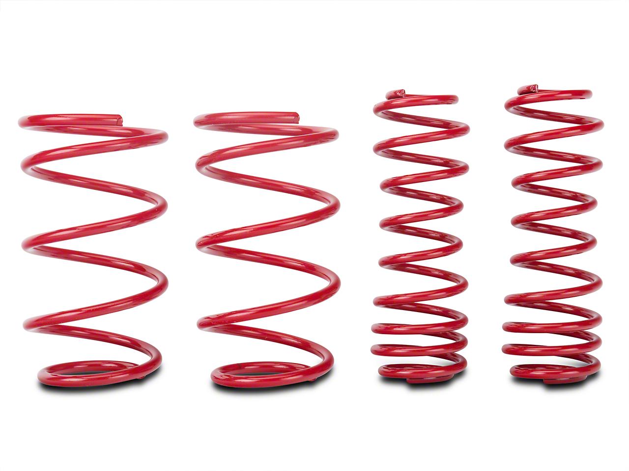 BMR Lowering Springs, Front, 1.5 in. Drop, Drag, GT500 - Red (07-14 GT500)