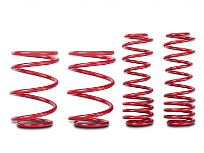 BMR Lowering Springs, Set of 4, 1.5 in. Drop, Handling, GT500 - Red (07-14 GT500)