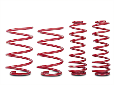 BMR Lowering Springs, Set of 4, 1.5 in. Drop, Performance, GT - Red (05-14 GT)