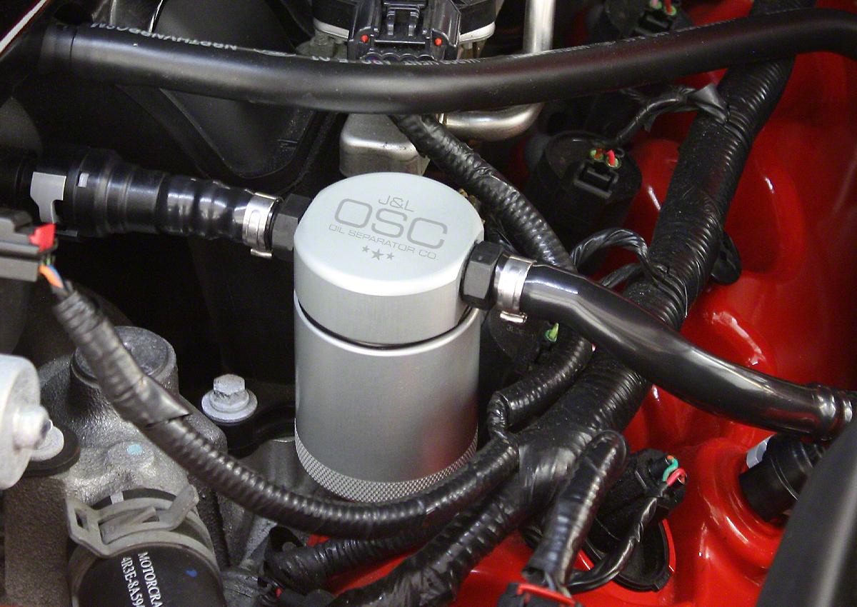 JLT V3.0 Satin Oil Separator - Driver Side (05-10 GT)