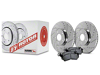 Hawk Performance Sector 27 Rotors and Ceramic Brake Pad Kit - Front (11-14 GT)
