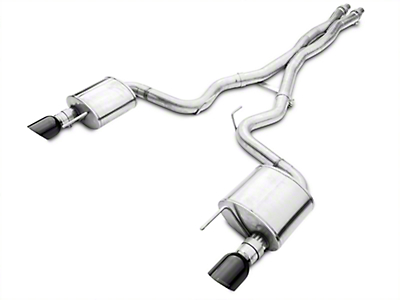 Corsa Xtreme 3in Cat-Back Exhaust - Black Tips (15-17 GT Fastback)
