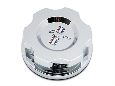 Modern Billet Chrome Radiator Cap Cover w/ Tri-Bar Logo (15-17 All)