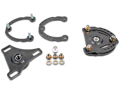 BMR Caster Camber Plates - Hammertone (15-17 All)