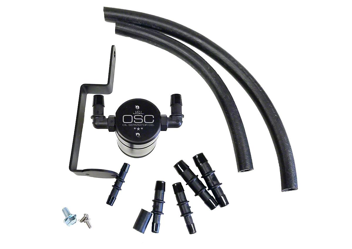 JLT V3.0 Black Oil Separator - Passenger Side (99-04 GT, 01 Bullitt)