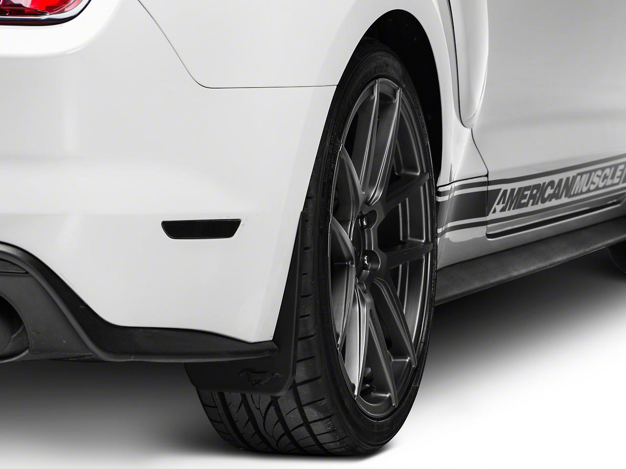 MMD Splash Guards w/ Pony Logo - Rear Pair (15-17 GT Premium, EcoBoost Premium)
