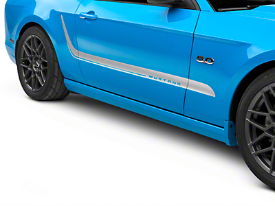 Silver Side Stripes w/ Mustang Lettering (10-14 All)