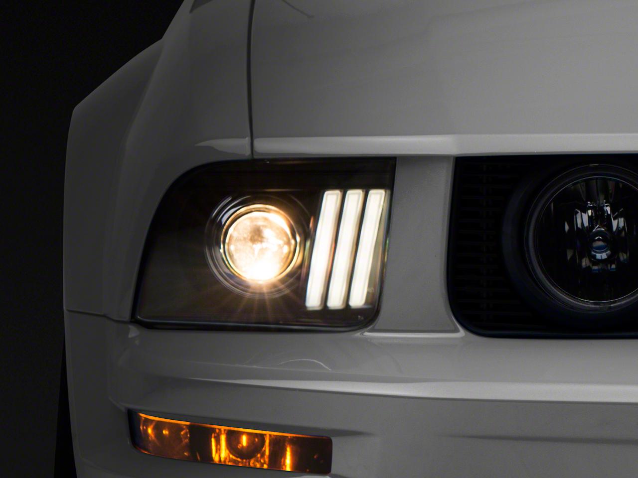Raxiom DRL Projector Headlight - Black (05-09 GT, V6)