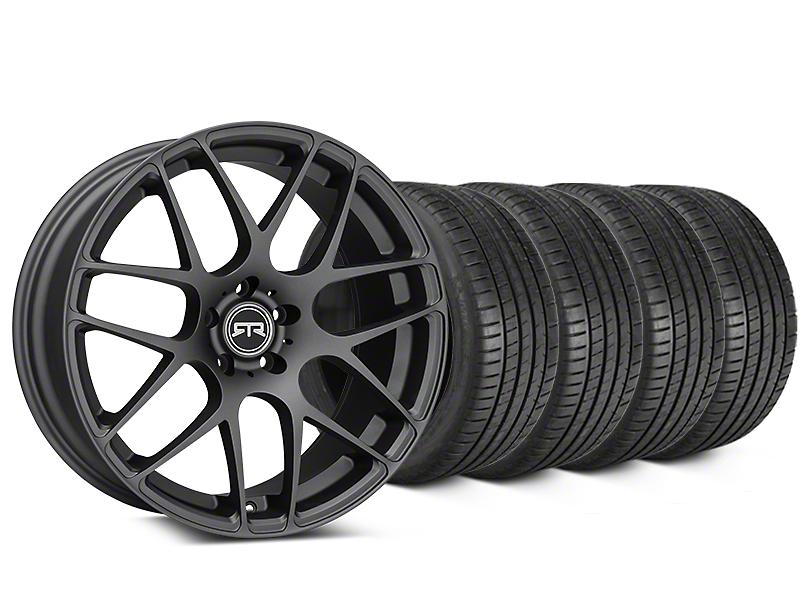 RTR Charcoal Wheel & Michelin Pilot Super Sport Tire Kit - 19x8.5 (05-14 All)