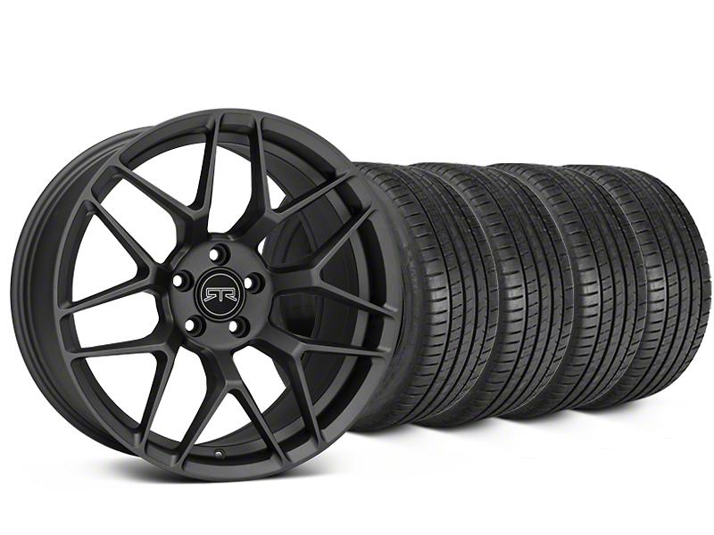 RTR Tech 7 Charcoal Wheel & Michelin Pilot Super Sport Tire Kit - 19x9.5 (05-14 All)