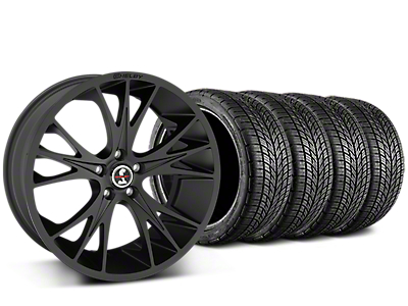 Shelby CS1 Matte Black Wheel & BF Goodrich G-FORCE COMP 2 Tire Kit - 20x9 (05-14 All)