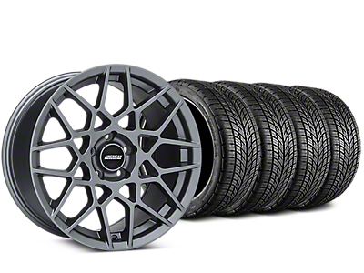 Staggered 2013 GT500 Style Charcoal Wheel & BF Goodrich G-FORCE COMP 2 Tire Kit - 19x8.5/10 (05-14 All)
