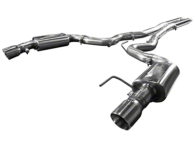 Kooks Cat-Back Exhaust w/ H-Pipe - Polished Tips (15-17 GT Fastback)