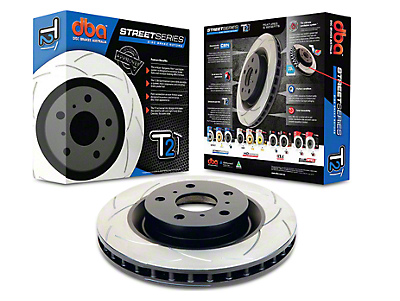 DBA T2 Street Series Slotted Rotor - Front (15-17 Standard GT, EcoBoost w/ Performance Pack)
