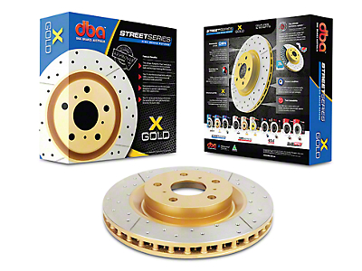 DBA Street Series Cross Drilled/Slotted Rotor - Front (15-17 Standard GT, EcoBoost w/ Performance Pack)