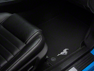Ford Black Floor Mats w/ Running Pony Logo - Front Only (13-14 All)