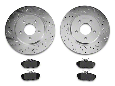 Xtreme Stop Precision Drilled & Slotted Rotor w/ Ceramic Brake Pad Kit - Rear (11-14 All, Excluding 13-14 GT500)