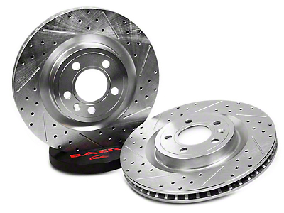 Baer Sport Drilled & Slotted Rotors - Rear Pair (94-04 Bullitt, Mach 1, Cobra)