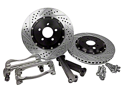 Baer EradiSpeed+1 2-Piece Drilled & Slotted Rotors - Front Pair (05-10 GT, 11-14 V6)
