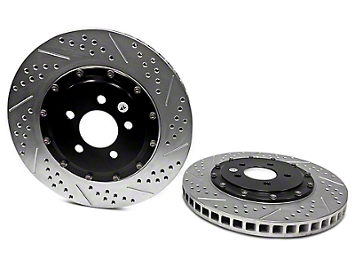 Baer EradiSpeed+ 2-Piece Drilled & Slotted Rotors - Front Pair (11-14 GT Brembo; 12-13 Boss; 07-12 GT500)