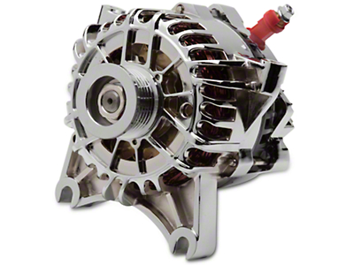PA Performance Chrome Alternator - 105 Amp (99-04 GT)