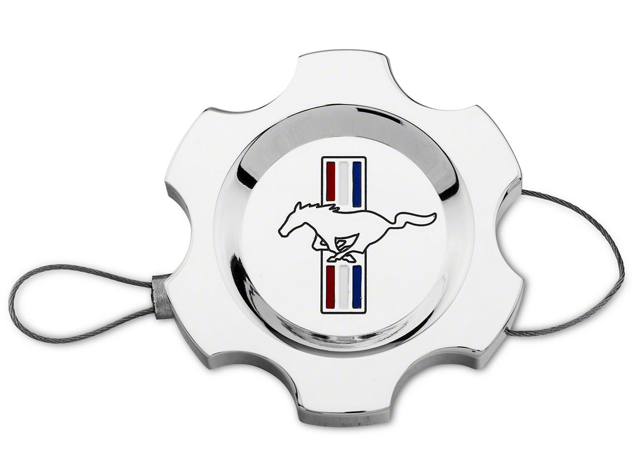 Modern Billet Chrome Power Steering Cap - Tri-Bar Logo (96-10 All)