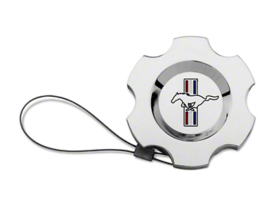 Modern Billet Chrome Washer Fluid Cap - Tri-Bar Logo (96-09 All)
