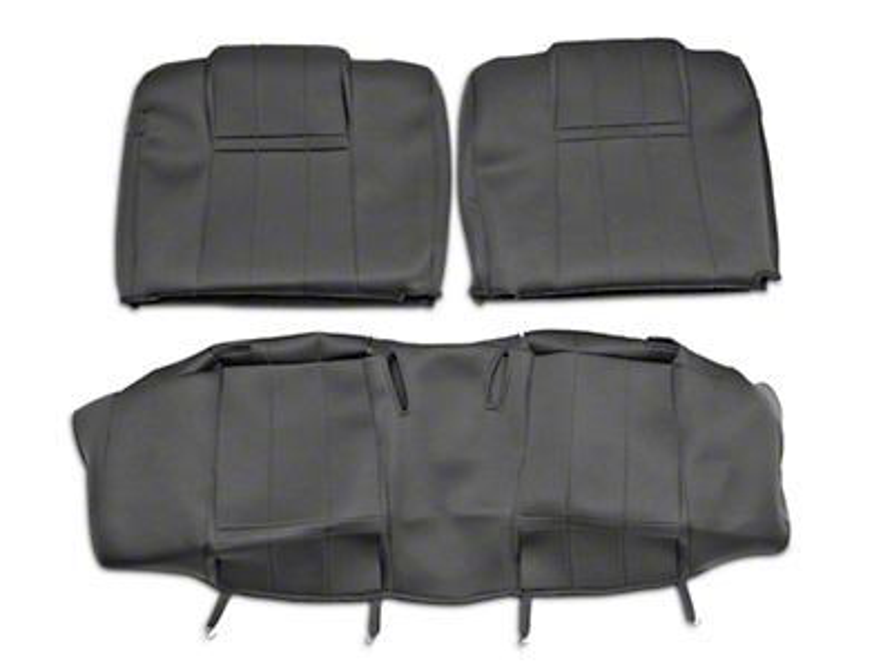 Caltrend NeoSupreme Rear Seat Cover - Black (05-09 Coupe)