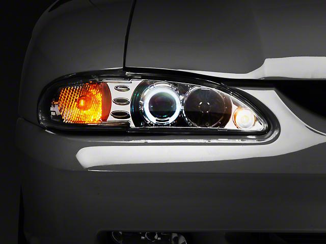 Raxiom Chrome Projector Headlights - LED Halo (94-98 All)