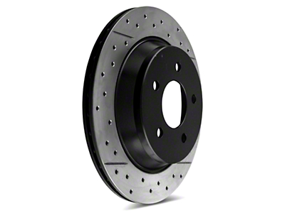DBA X-Gold Series Cross Drilled/Slotted Rotors - Rear Pair (94-04 Bullitt, Mach 1, Cobra)