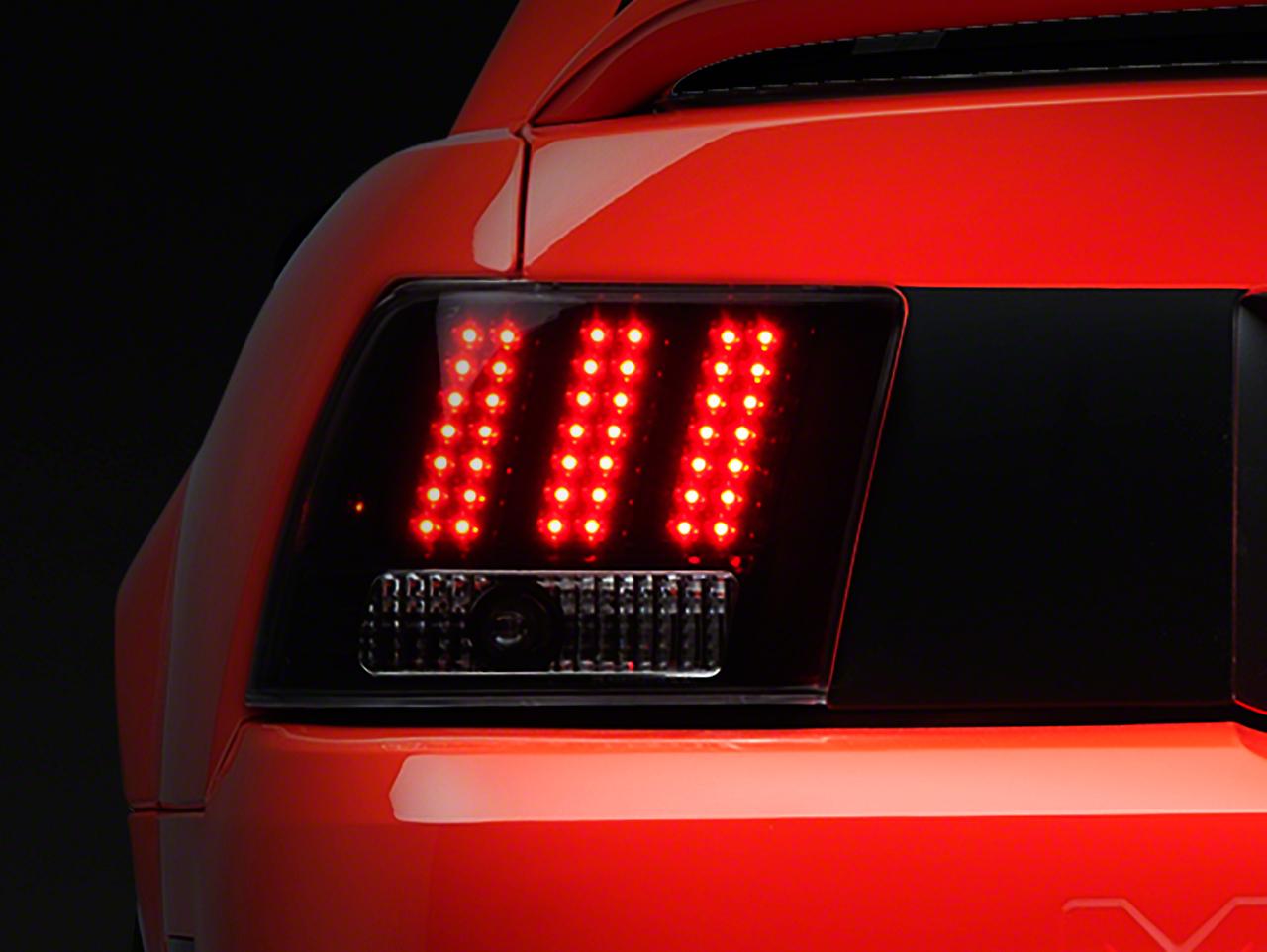 Black 3-Light LED Tail Lights (99-04 All; Excluding Cobra)