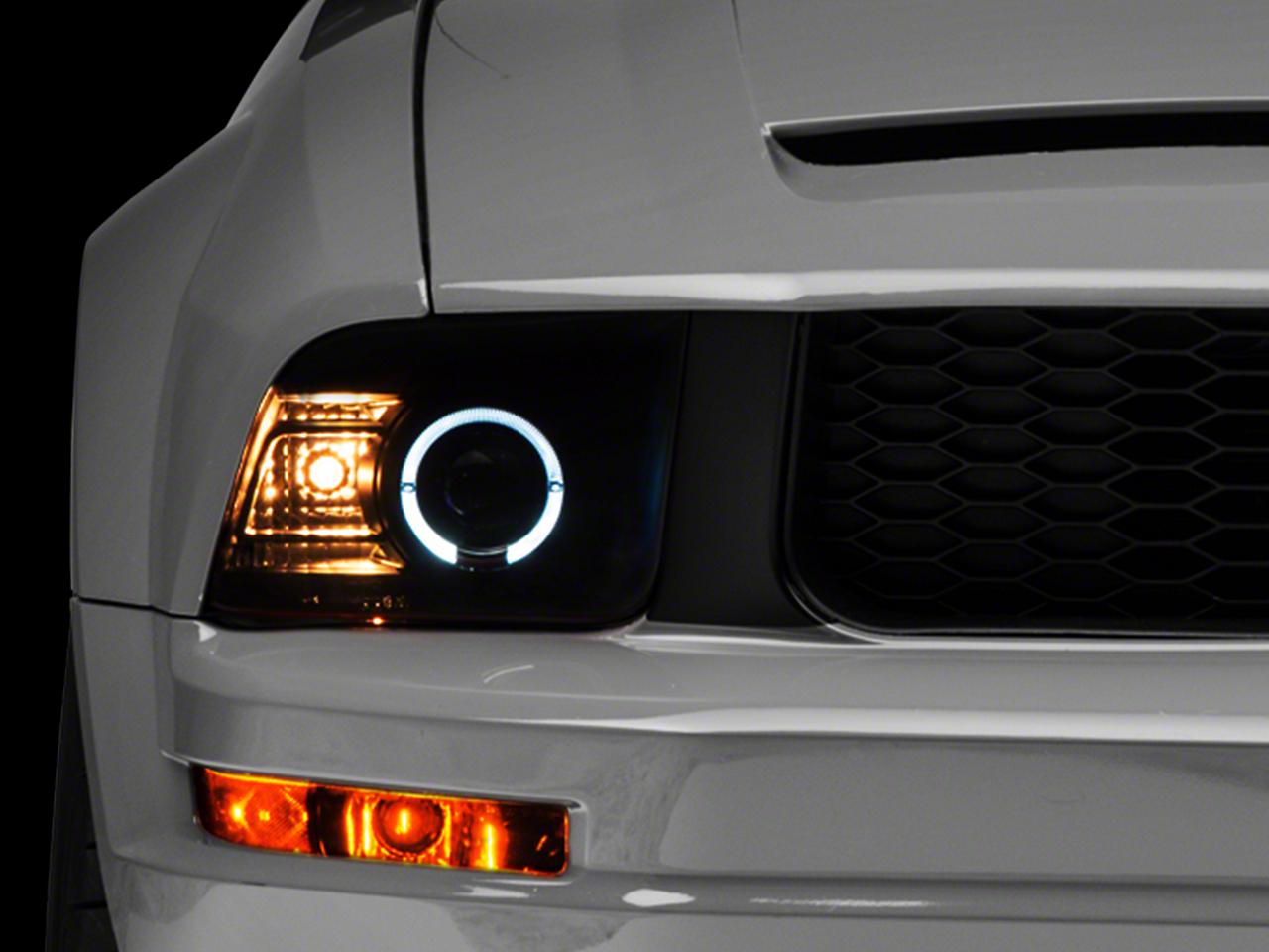 Raxiom 2010 Style Smoked Headlights (05-09 GT, V6)
