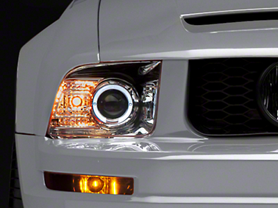 Raxiom 2010 Style Chrome Headlights (05-09 GT, V6)