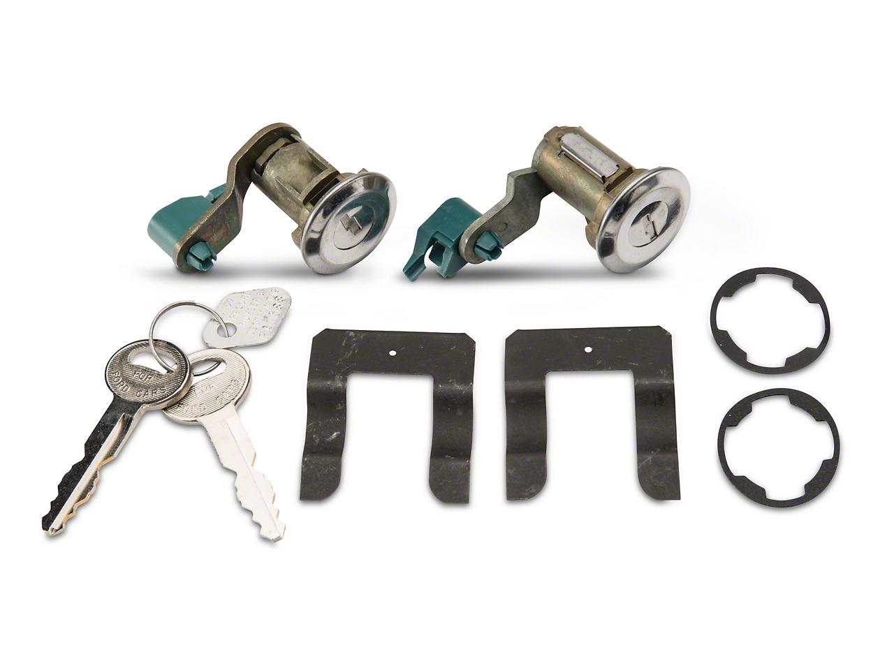 Door Lock Set - Stainless (90-93 All)