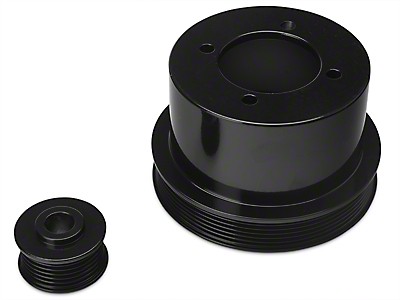 SR Performance Underdrive Pulleys - Black (94-98 V6)