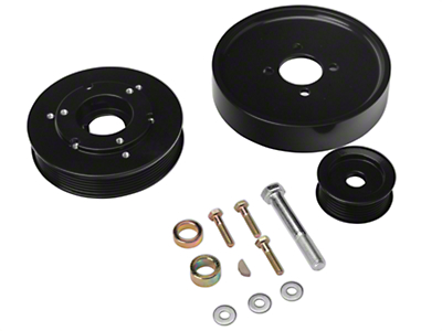 SR Performance Underdrive Pulleys - Black (Late 01-04 GT)