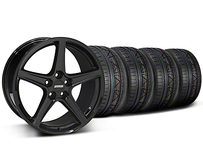 Staggered Saleen Style Black Wheel & NITTO INVO Tire Kit - 19x8.5/10 (05-14)