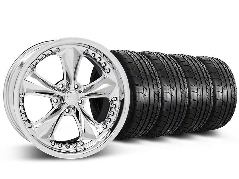 Staggered Foose Nitrous Chrome Wheel & Mickey Thompson Tire Kit - 20x8.5/10 (05-14 GT, V6)