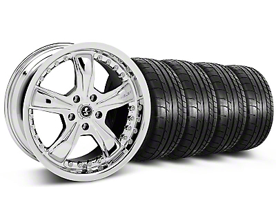 Staggered Shelby Razor Chrome Wheel & Mickey Thompson Tire Kit - 20x9/10 (05-14 GT, V6)