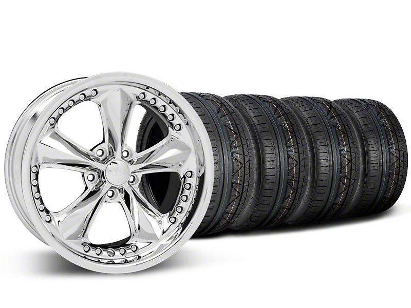 Staggered Foose Nitrous Chrome Wheel & NITTO INVO Tire Kit - 20x8.5/10 (05-14 GT, V6)