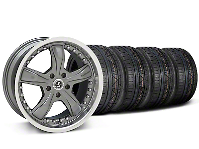 Staggered Shelby Razor Gunmetal Wheel & NITTO INVO Kit - 20x9/10 (05-14 GT, V6; 07-12 GT500)