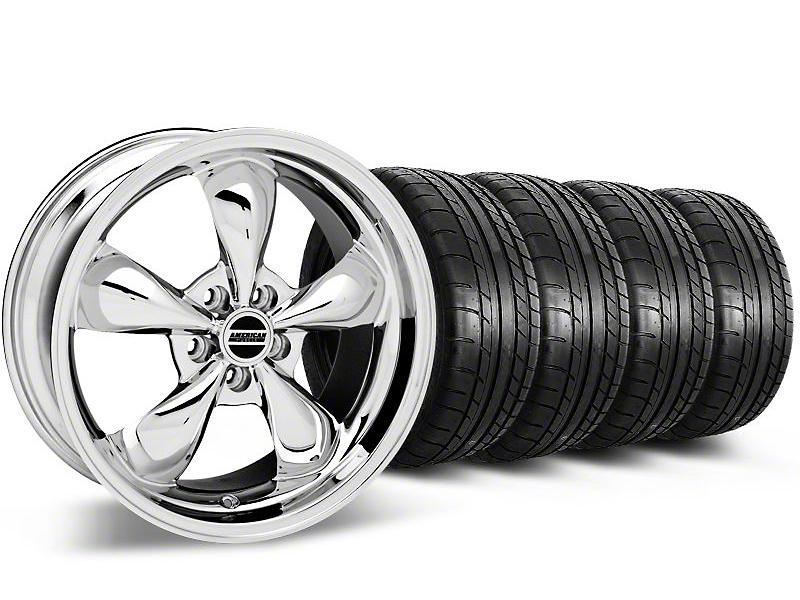 Bullitt Chrome Wheel & Mickey Thompson Tire Kit - 17x9 (87-93 5 Lug Conversion)