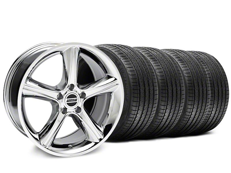 2010 GT Premium Style Chrome Wheel & Sumitomo Tire Kit - 18x9 (87-93 5 Lug Conversion)