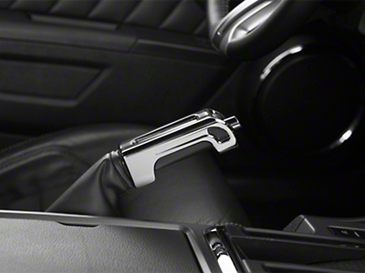 SHR Chrome E-Brake Handle - Leather (10-12 All)