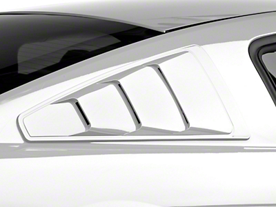 MMD Pre-Painted Quarter Window Louvers - Black (05-14 All)