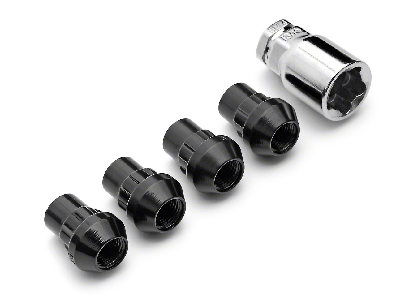 Locks with Key for Black Acorn Lug Nuts (79-14 All)
