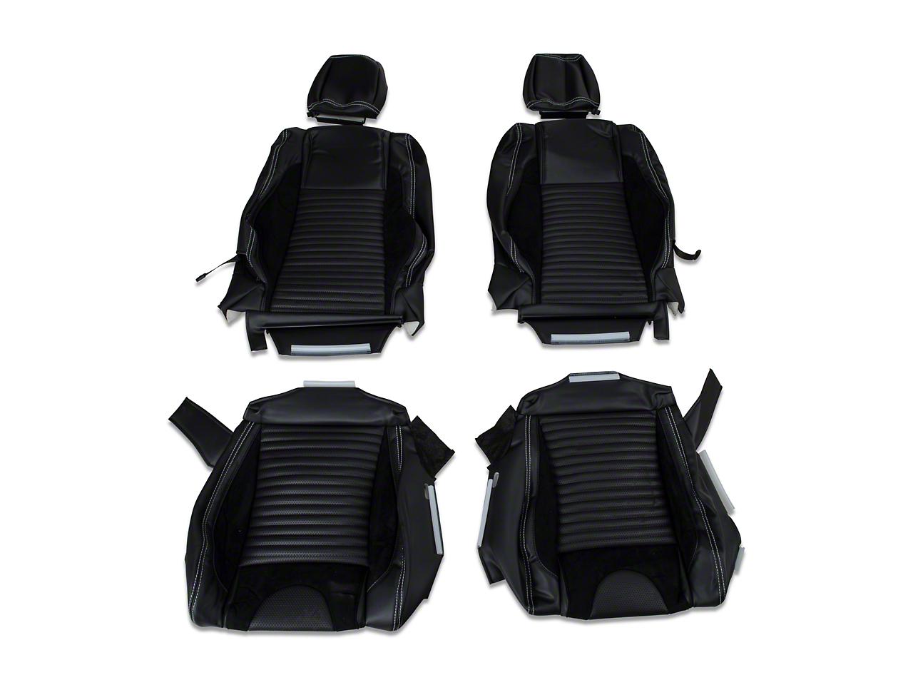 TMI Sport R Vinyl Upholstery Full Set - White Stitch (05-07 Coupe Non-Airbag)