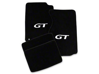 Lloyd Front & Rear Floor Mats w/ Silver GT Logo - Black (99-04 All)