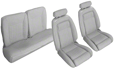 OPR Titanium Gray Front & Rear Sport Seat Upholstery - Hatchback (90-91 All)