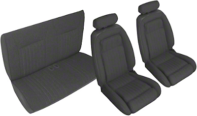OPR Black Front & Rear Sport Seat Upholstery - Convertible (90-91 All)